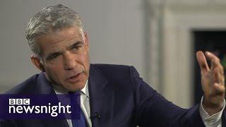 'He has got a problem with Jews': Yair Lapid on Jeremy Corbyn  - BBC Newsnight thumbnail