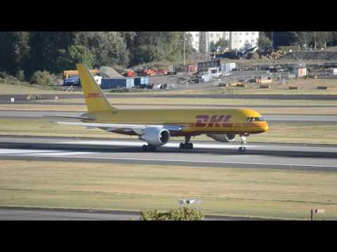 DHL (Air Transport International) Boeing 757-200CF [N620DL] Takeoff From PDX