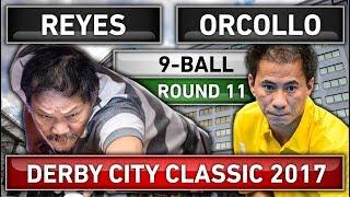 Efren Bata Reyes v Dennis Orcollo [HD] Derby City Classic 2017 Round 11 9-Ball Billiard