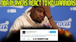 NBA PLAYERS REACT TO KEVIN DURANT SIGNING WITH THE GOLDEN STATE WARRIORS!