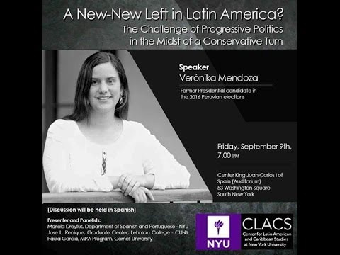 VERONIKA MENDOZA EN NEW YORK UNIVERSITY