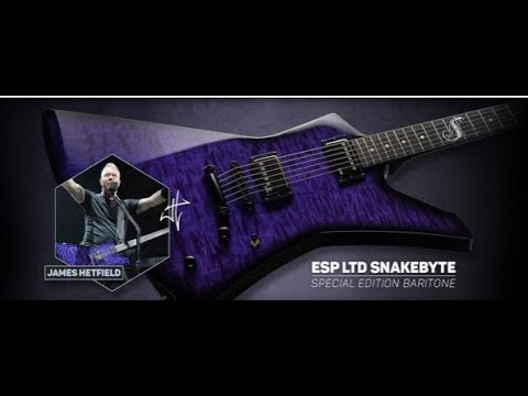 James Hetfield signature Snakebyte SE Baritone Limited Edition released by ESP guitars!