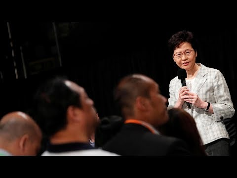 Carrie Lam vows to listen to the public with sincerity, humility