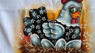 Como pintar uma galinha