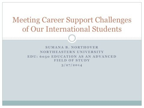 Meeting Career Support Challenges of Our International Students