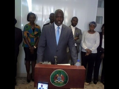 PRESS CONFERENCE OF MINISTER OF JUSTICE BA TAMBEDOU