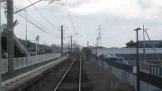 前面展望 琴電琴平線上り(2/7) 岡田駅-滝宮駅