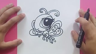 Como dibujar una mariposa paso a paso 14 | How to draw a butterfly 14