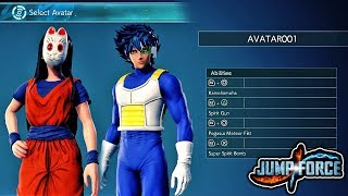 JUMP FORCE - Closed Beta Demo Gameplay! ALL Custom Character Avatar & Main Menu Gameplay (English)
