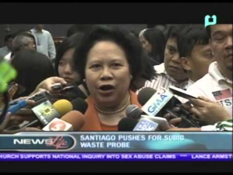 Sen. Santiago pushes for Subic waste probe