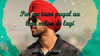 Diljit Dosanjh-Do You Know(duniya deewani hain)whatsapp status video|latest punjabi song status|