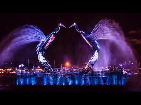 Crane Dance Full Show at Resorts World Sentosa Singapore - HD