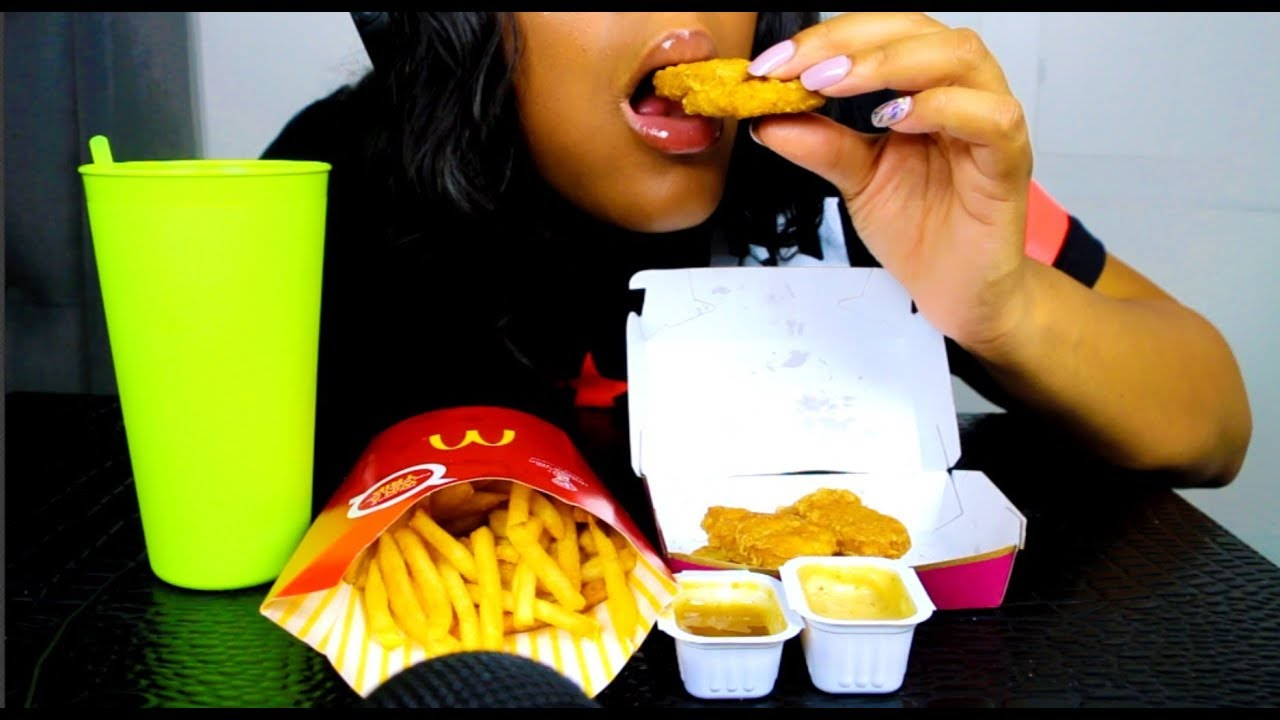 Asmr Mcdonalds Chicken Nuggets Fries Mukbang Catch Up With Me