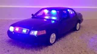 1:18 motormax d crown victoria unmarked diecast police car with lights