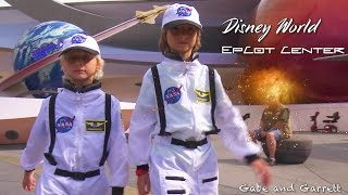 Gabe and Garrett Fly To Mars! - Mission Space Ride - Disney World (Epcot)