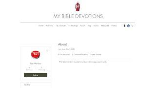 Adjusting Member Settings on MyBibleDevotions.com, a Wix website.