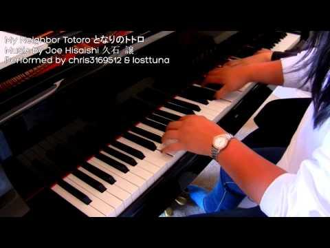 My Neighbor Totoro Main Theme (piano duet feat. losttuna)