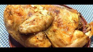 Курица в духовке целиком СОЧНАЯ Курица Запеченная в духовке Рецепт приготовления Курицы в духовке