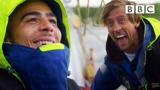 Crouchy and Scotland's Che Adams take a stormy boat trip 😅🌊 Euro 2020 ⚽️ BBC