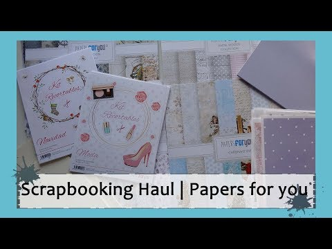 SCRAPBOOKING Haul | Papers For You | Design Team