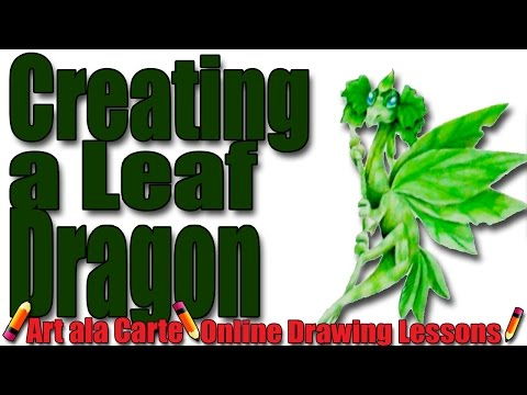 Creating a Leaf Dragon Painting