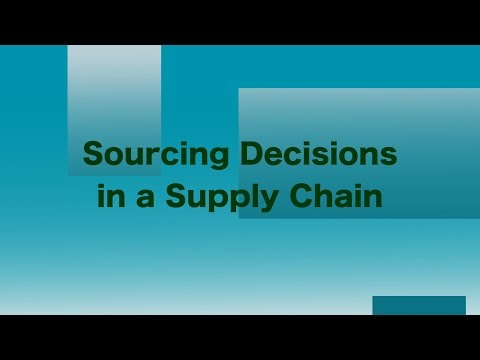 Sourcing Decisions in a Supply Chain