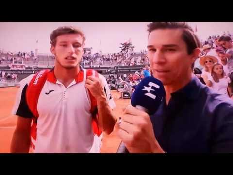 Pablo Carreño pasa a cuartos de Roland Garros ganando a Raonic  y se emociona.