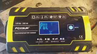 Хорошое автоматическое зарядное устройство для аккумуляторов FOXSUR 12V 8A 24V 4A FBC 122408D. Ч. 1