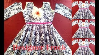 Designer frock cutting, How to cut simple frock, tailoring classes for beginners