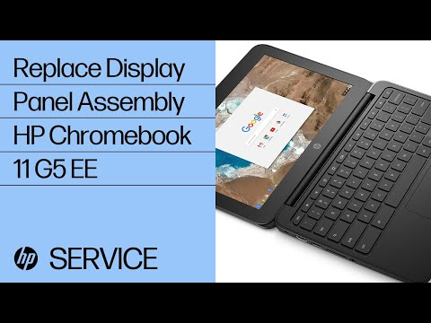 Replace the Display Panel Assembly   HP Chromebook 11 G5 EE   HP