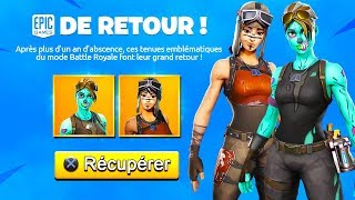 GHOUL RETOUR - RENEGADE RAIDER ON FORTNITE? (SKINS RARES)