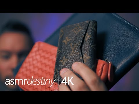 ASMR | Tapping & Scratching Leather + Sticky Fingers! (4K)