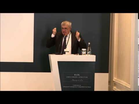 """Mario Siragusa on """"New Forms of Abuse in Competition Law"""" (intro by Gönenç Gürkaynak)"""