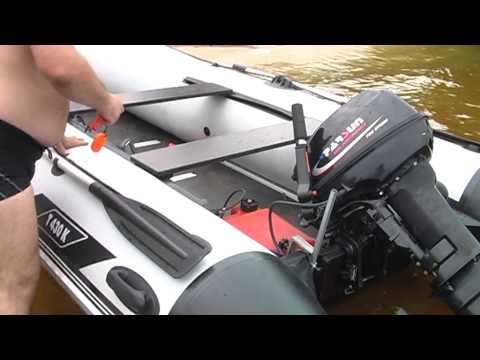 Пуск двигателя на лодку