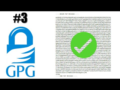GPG - 3 Verifying Digital Signatures
