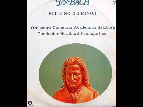 Bach. Ouverture (Suite) No. 2. Camerata Academica Salzburg. Bernhard Paumgartner.
