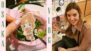 OSAKA TRAVEL VLOG 2 | Sailor Moon Café 🌙 Shinsaibashi 🛍️ 大阪