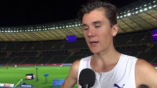 Jakob Ingebrigtsen (NOR) after winning gold in the 1500m