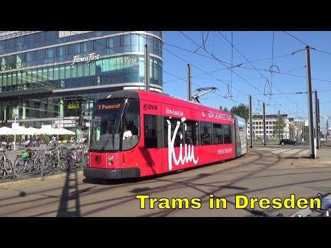 Trams in Dresden Hauptbahnhof / Straßenbahnen in Dresden Hauptbahnhof