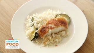 Fish Recipe With Homemade Spice Rub And Lemony Rice - One Pot Meal - Everyday Food With Sarah Carey