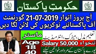 Today Jobs in Pakistan 2019 l Jobs in Pakistan 2019 l Govt Jobs Pakistan