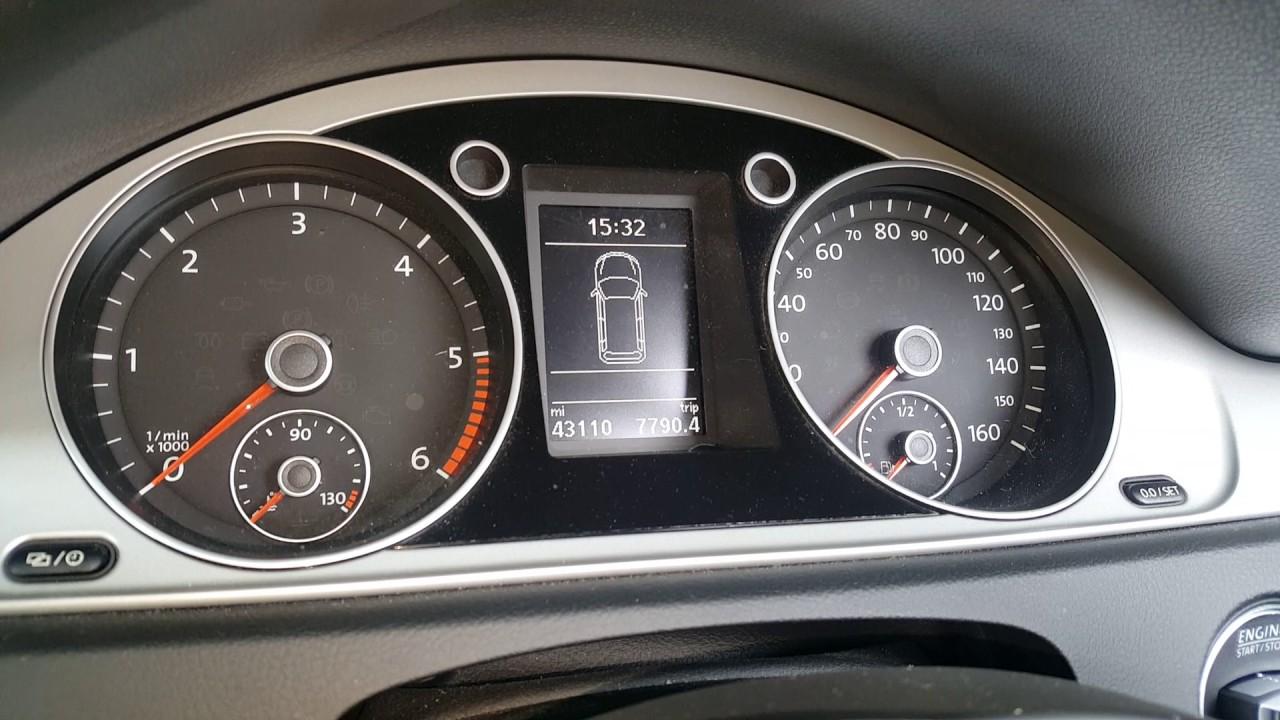 Volkswagen passat 2016 onwards service light reset oil change due