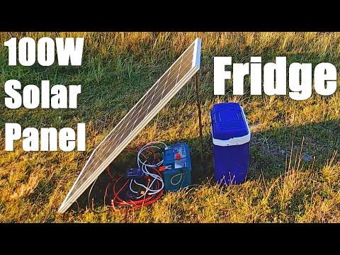 100W Solar Panel running a 12V Fridge (for beginners)