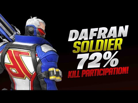 Dafran 72% Kill Participation On Soldier 76! - Overwatch