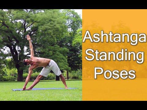 yoga asana  ashtanga standing poses video  youtube