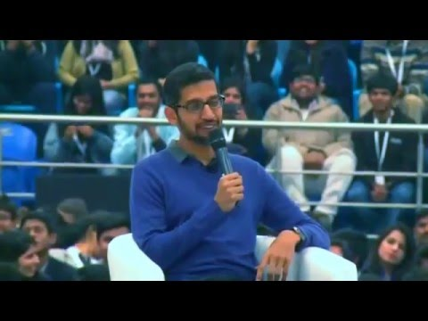 #Ask Sundar  Google CEO Sundar Pichai, live in conversation at Delhi University
