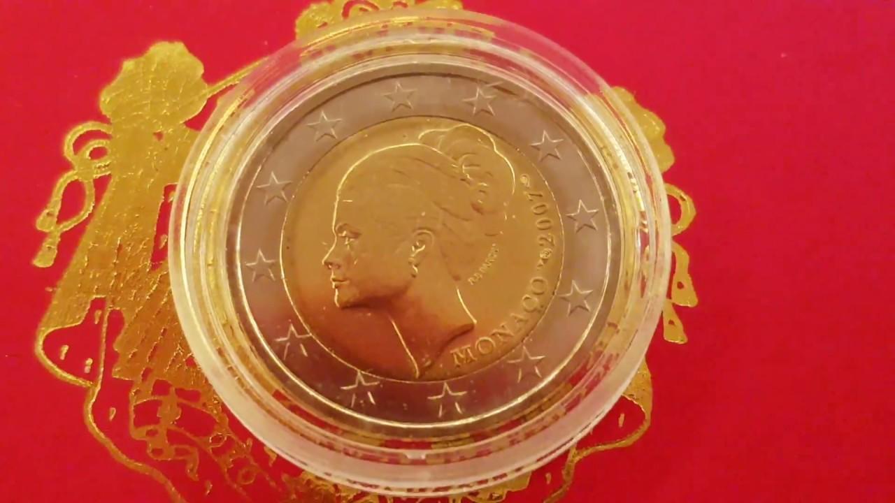 High Value 2 Euro Monaco 2007 Princesse Grace Kelly Real One