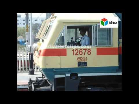 indian railways diesel locomotive ready to drive