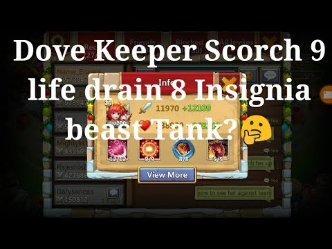 DOVE KEEPER SCORCH 9/ Insignia 8 Life Drain Beast Mode?🤔