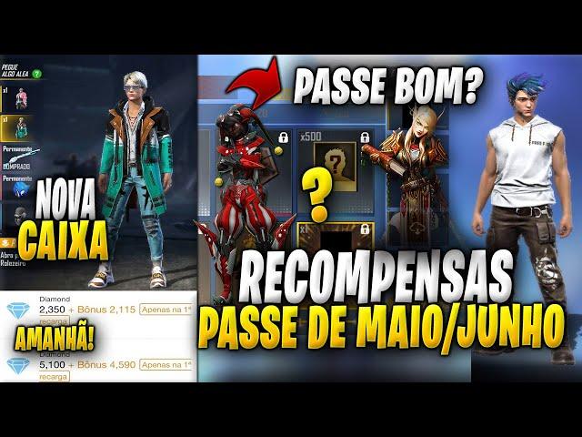 CONFIRA O PASSE DE ELITE MÊS DE MAIO E JUNHO! NOVA CAIXA NA LOJA, 110% BÔNUS DIAMANTES AMANHÃ!